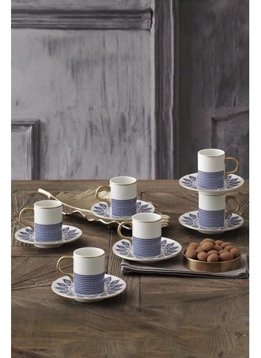Güral Porselen Güral Porselen Bone Atina Kahve Fincan Takımı GBSATN12KT2395556 Renkli